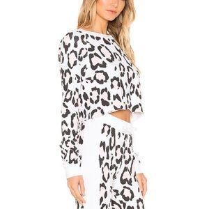 •Wildfox•Pink Leopard Crop Top•NWOT